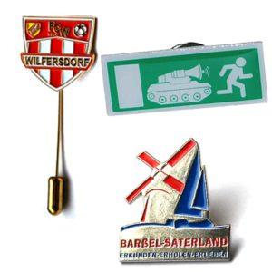 Pins, Metall Anstecker, Metallabzeichen, Werbepins, Werbeanstecker, Werbeartikel, Produktion
