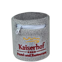 Schweissband mit Reissverschluss / Tasche