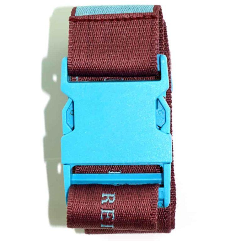 Koffergurte - bag belts - luggage belts - Kofferbänder - Standard PVC Clip farbig - Verschluss - Werbeartikel