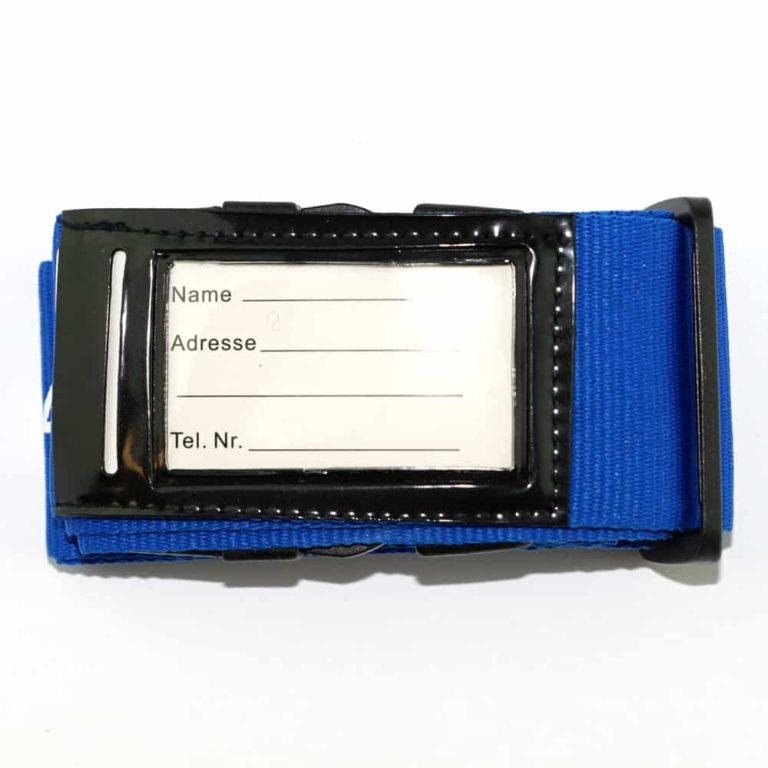 Koffergurte - bag belts - luggage belts - Kofferbänder -Namensschild - Namecard pocket - Adress Tasche - Werbeartikel