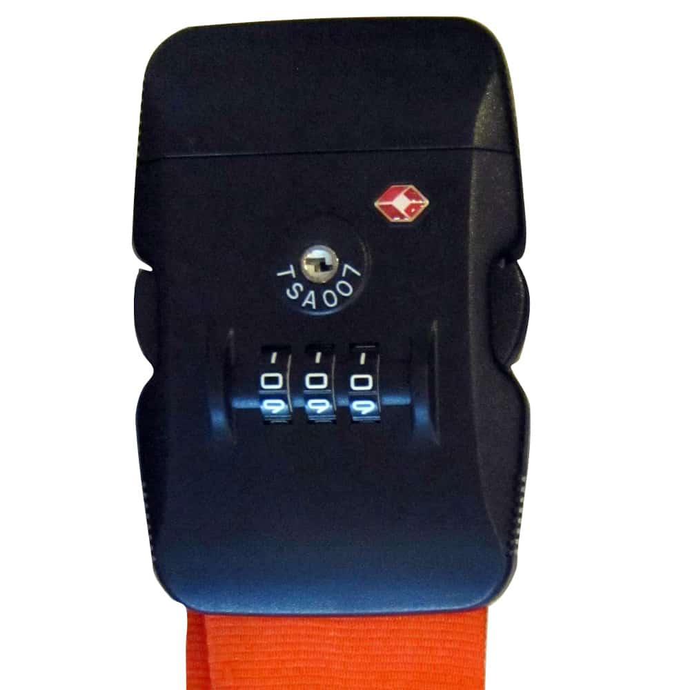 Koffergurte - bag belts - luggage belts - Kofferbänder - TSA Zahlenschloss - TSA Lock - Verschluss - Werbeartikel