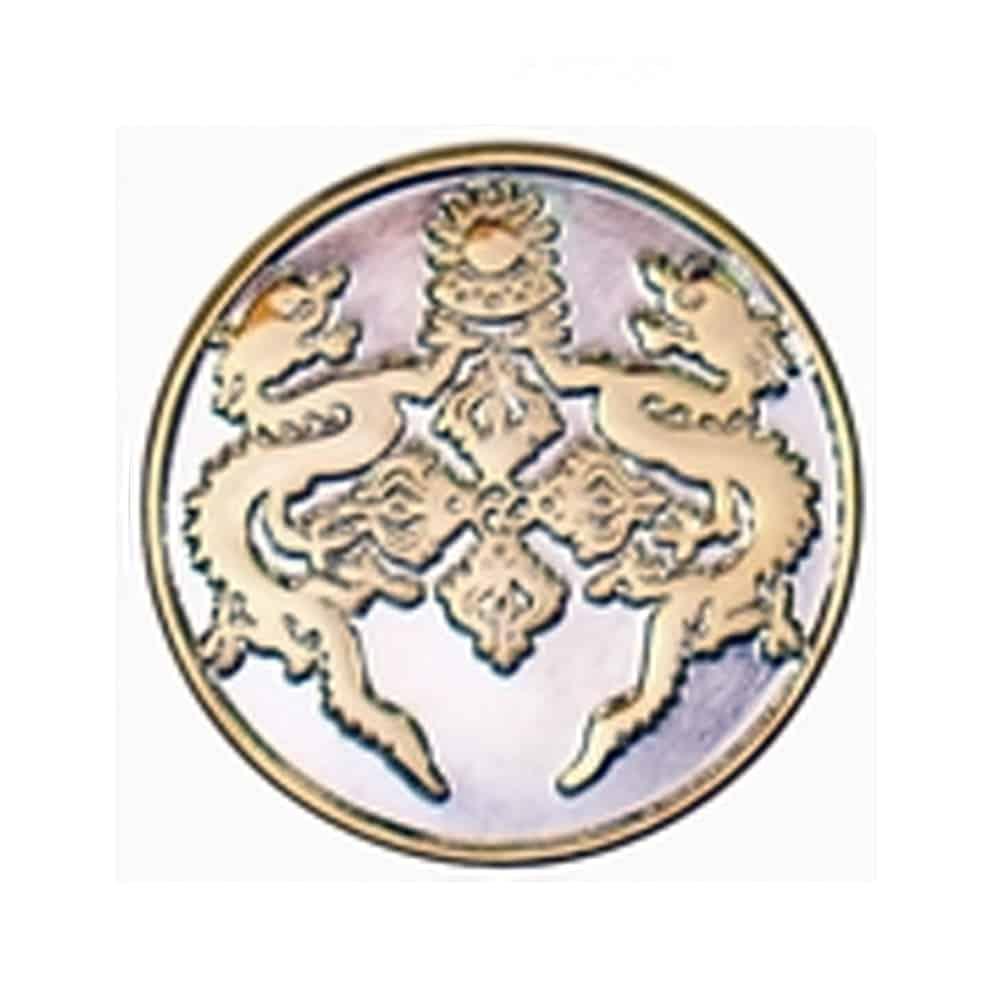 Platierung, Oberflaechenveredelung, Pins, Anstecker, Metallpins, Veredelung doubletone gold & Silver, 2-farbig gold und silber