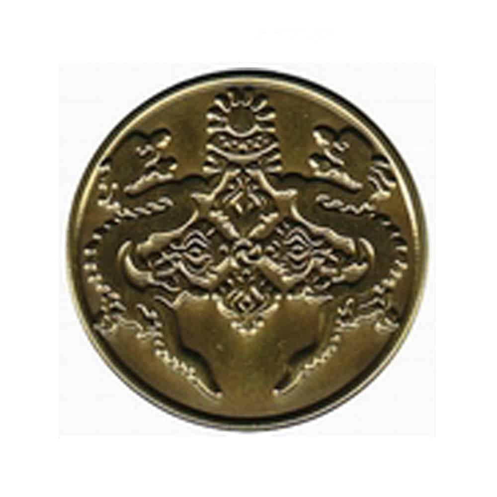 Platierung, Oberflaechenveredelung, Pins, Anstecker, Metallpins, Veredelung anti-bronze, antique Bronze