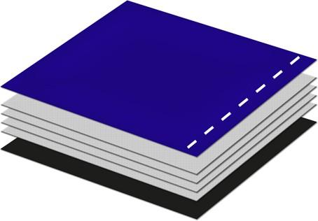 Trainingsball mit PVC Oberfläche