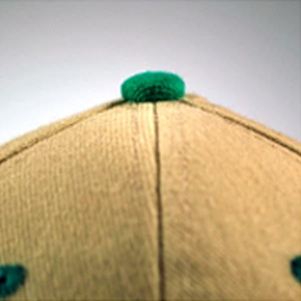 Baseballcaps - Veredelungstechnik farbiger Top-Button - Werbeartikel
