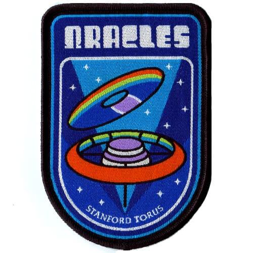 gewebte Aufnäher Raumschiff
