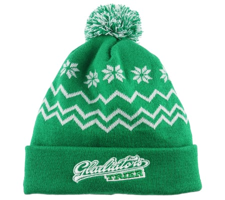 Mütze grün, Strickmütze, Jaquardwebung,