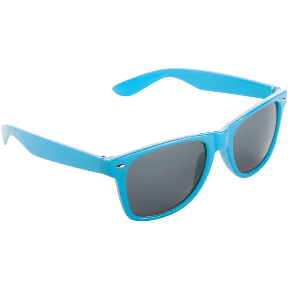 Werbe-Sonnenbrille Sun-021, Werbeartikel, bedruckt, farbe cyan