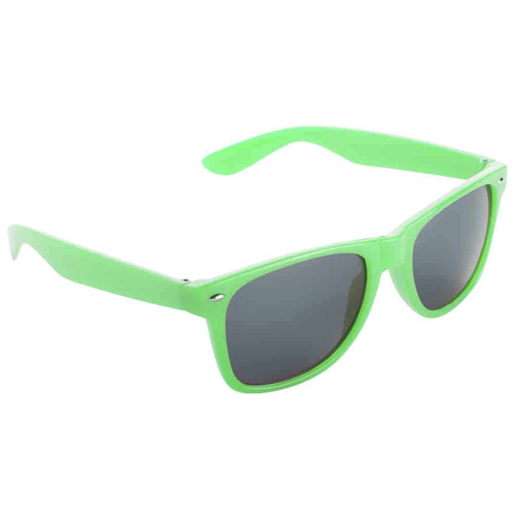 Werbe-Sonnenbrille Sun-021, Werbeartikel, bedruckt, farbe neon grün