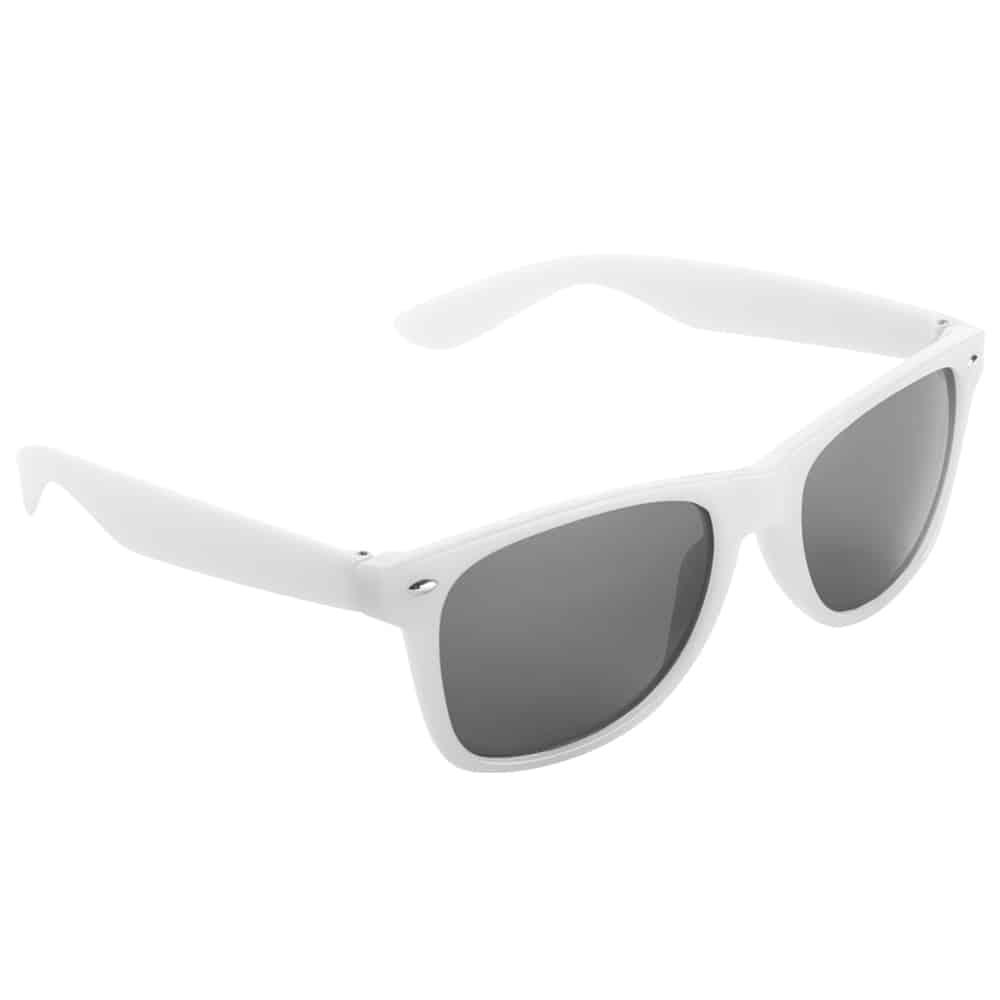 Werbe-Sonnenbrille Sun-021, Werbeartikel, bedruckt, farbe weiß