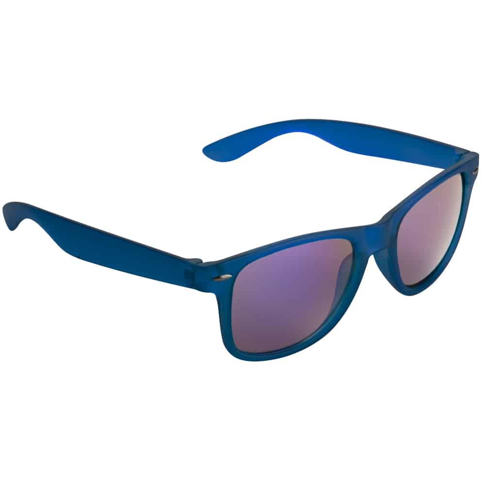 Werbe Sonnenbrille Sun-021v, frosen, verspiegelte glaeser, blau, Werbeartikel