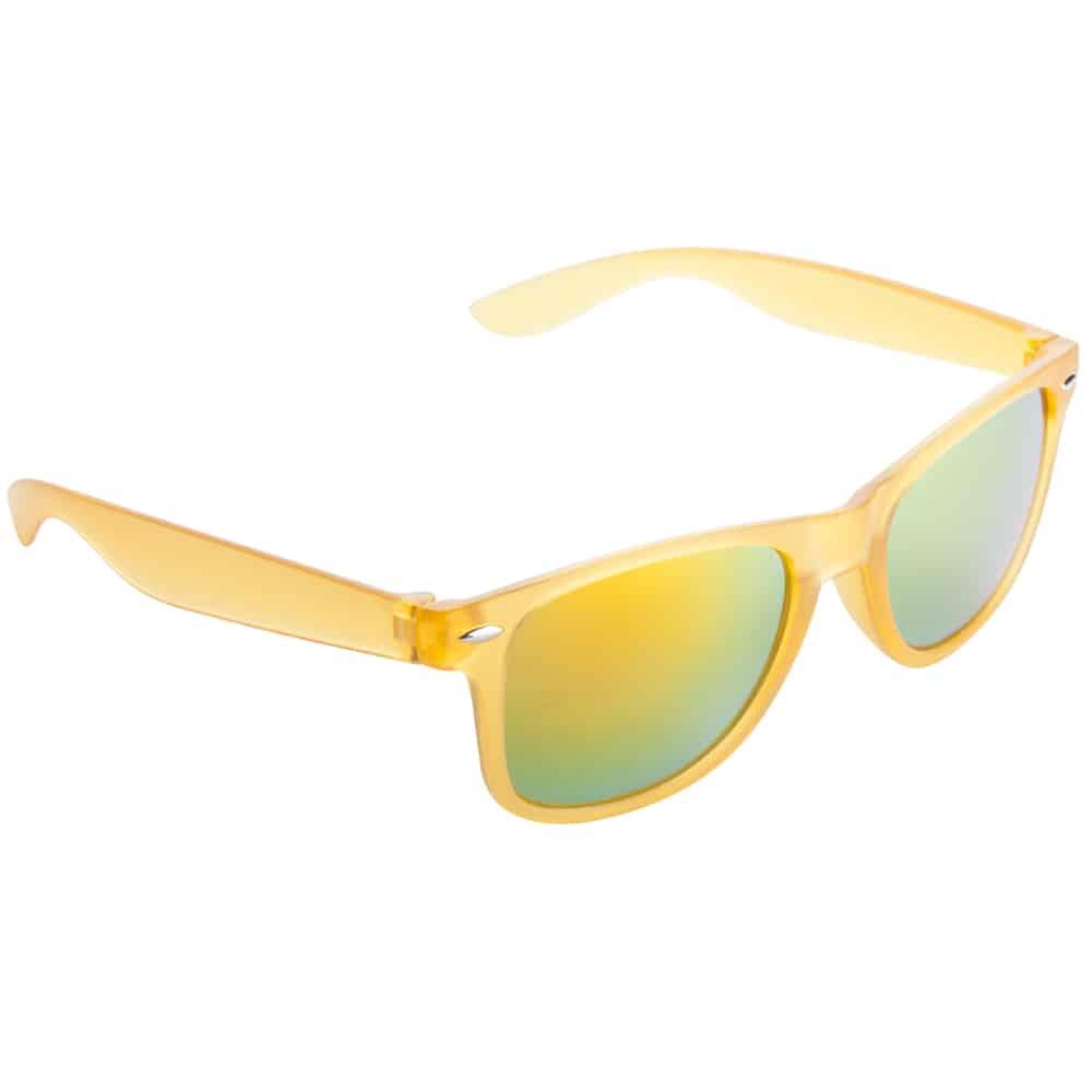 Werbe Sonnenbrille Sun-021v, frosen, verspiegelte glaeser, gelb 5, Werbeartikel
