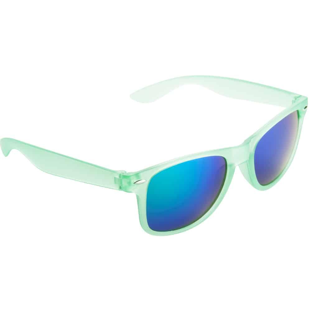 Werbe Sonnenbrille Sun-021v, frosen, verspiegelte glaeser, grün türkis-1, Werbeartikel