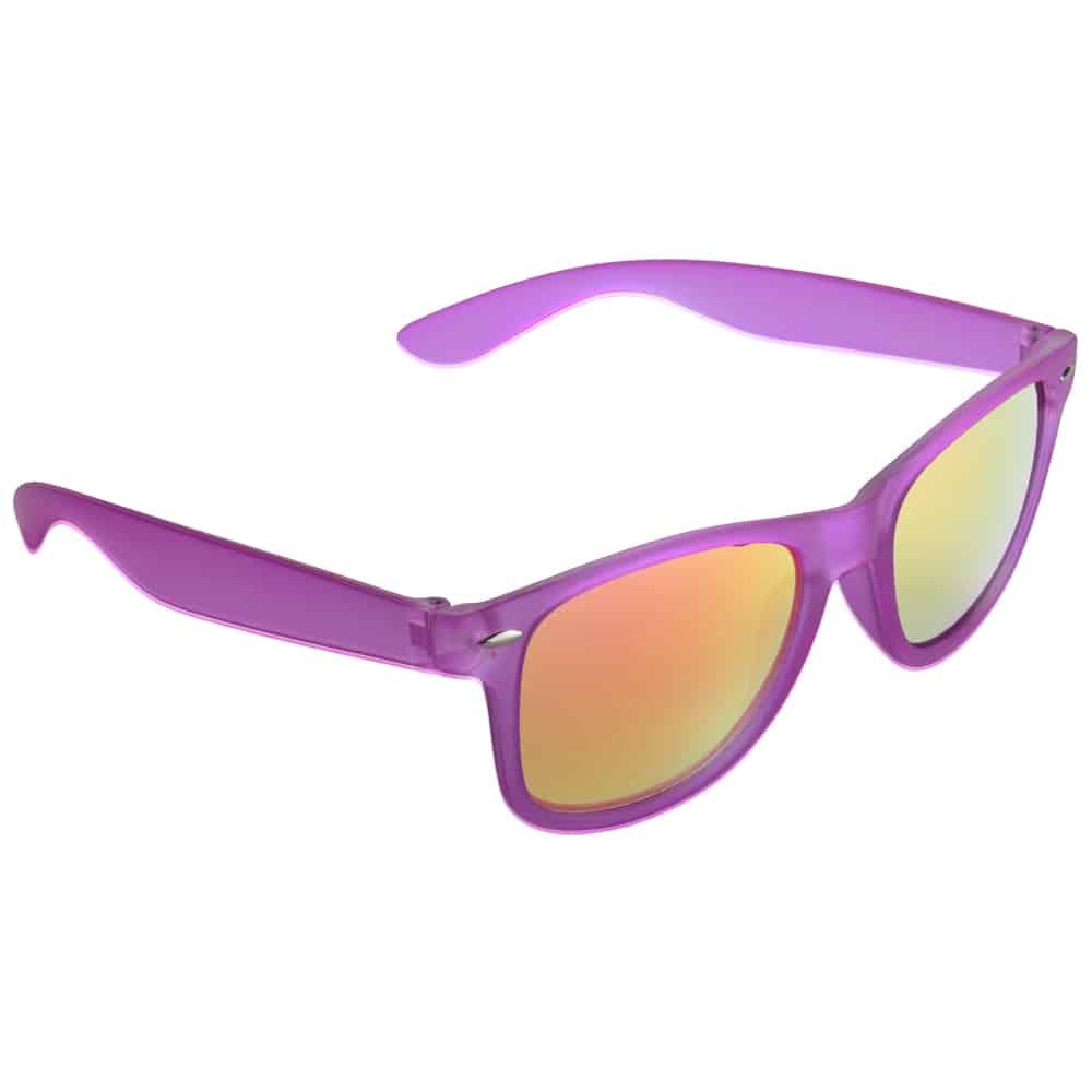 Werbe Sonnenbrille Sun-021v, frosen, verspiegelte glaeser, violett, Werbeartikel