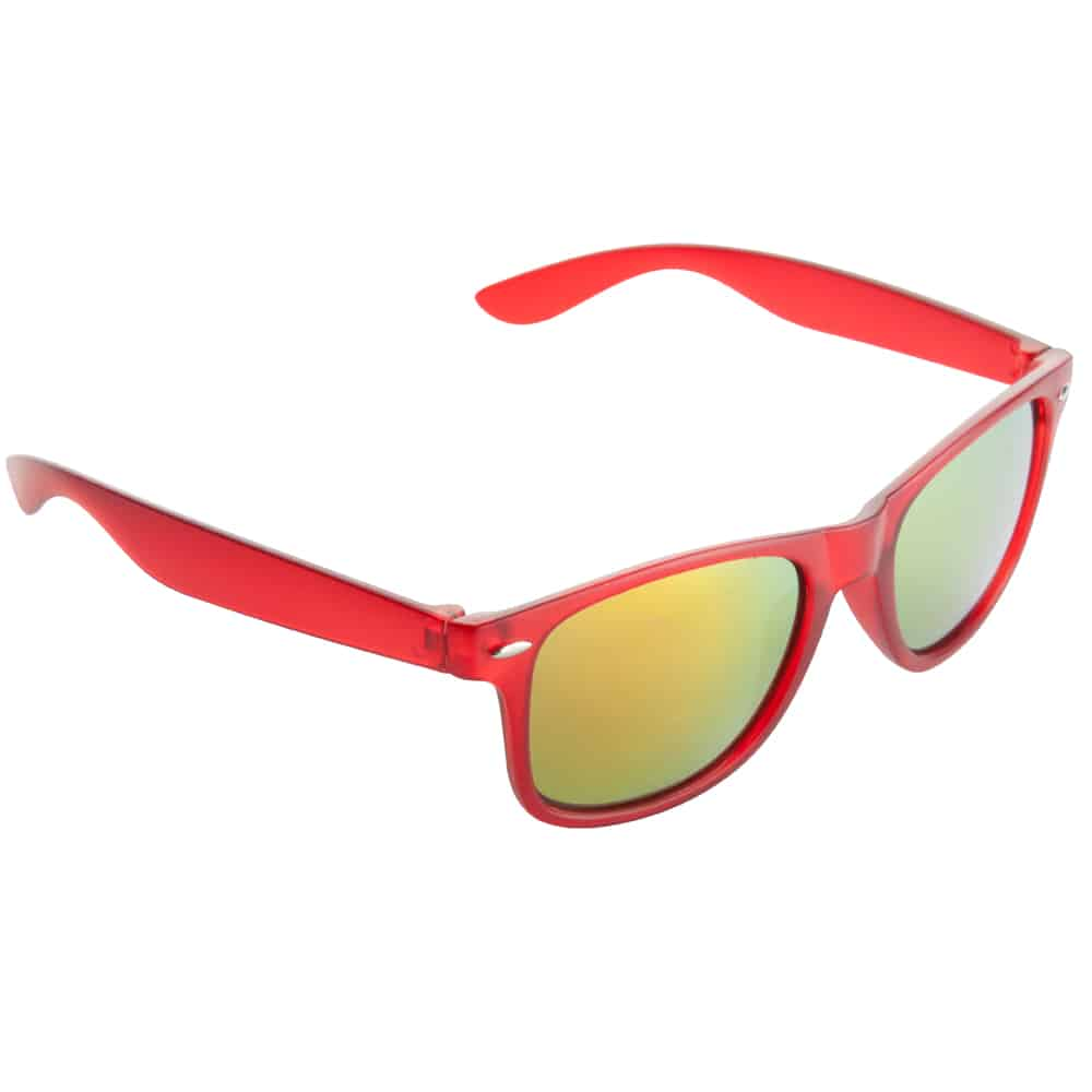 Werbe Sonnenbrille Sun-021v, frosen, verspiegelte glaeser, rot 3, Werbeartikel