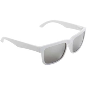 Werbe-Sonnenbrille SunCube, Werbeartikel, bedruckt, farbe weiss