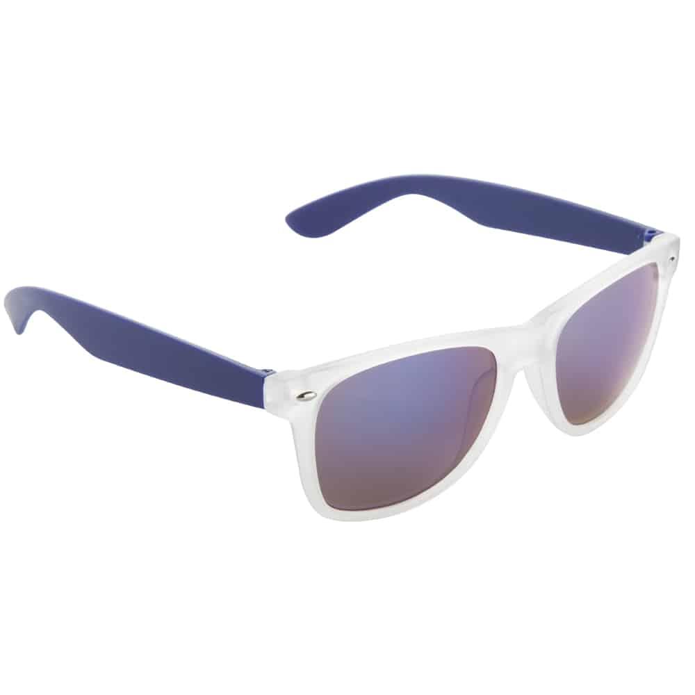 Werbe-Sonnenbrille Sun-021vb, Werbeartikel, bedruckt, farbe blau, frozen weiß, blau