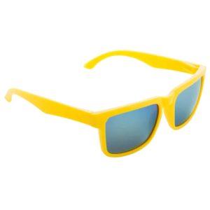 Werbe-Sonnenbrille SunCube, Werbeartikel, bedruckt, farbe gelb