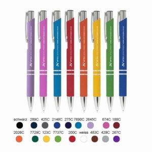 Metall-Kugelschreiber,Werbekugelschreiber, Werbeartikel, Kugelschreiber bedrucken, Kugelschreiber gravieren, Soft-Touch