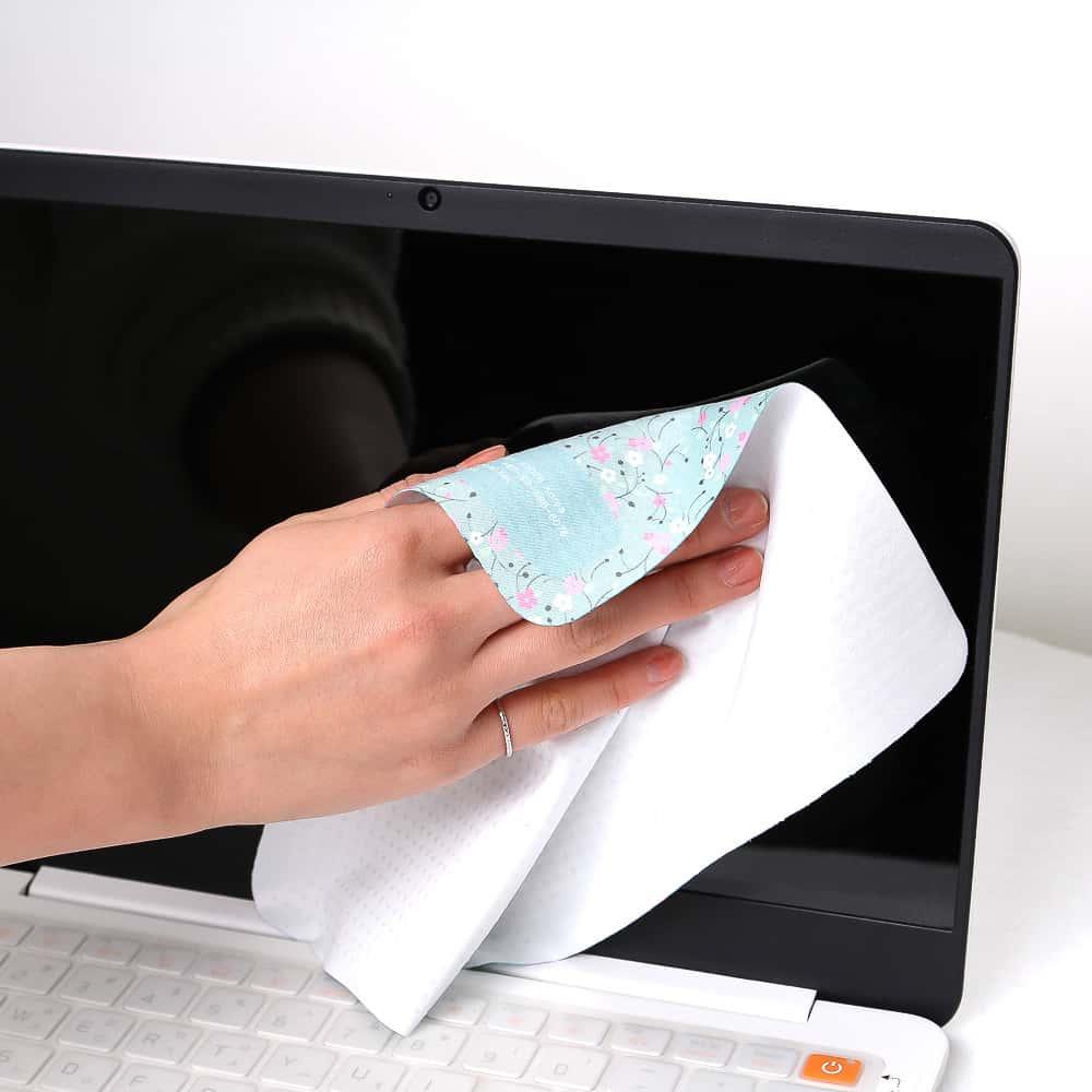 Mousepad, Microfaser Mousepad, Mikrofaser Reinigungstuch mit Gumminoppen, 3 in 1 Tuch, Werbeartikel