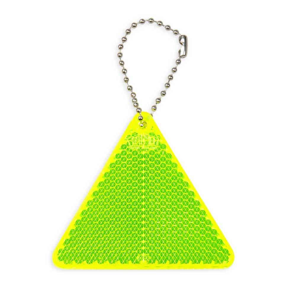 Kunststoffreflektoren, reflektierende Anhänger bedrucken lassen, Form: Dreieck