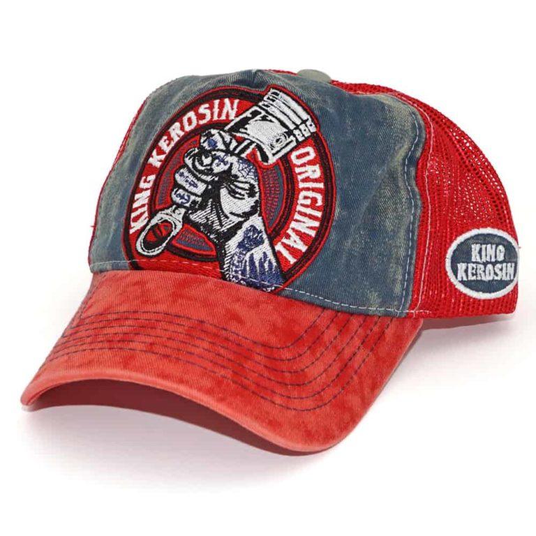 Meshcap, Truckercap, bestickt, washed-look, high Qlty