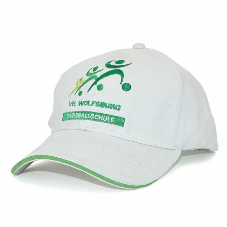 Heavy Cotton Baseballcap bestickt mit Kundenlogo, Baseballcaps besticken lassen, Werbeartikel, Merchandise