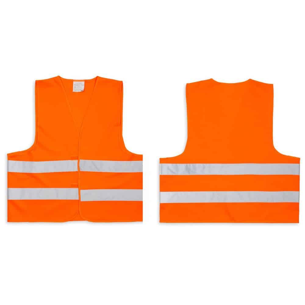 Warnwesten orange bedrucken lassen
