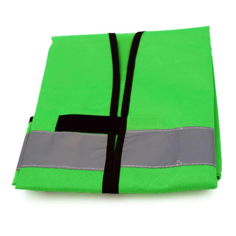 Funktionsweste, Ornderweste apfelgrün-schwarz bedrucken lassen