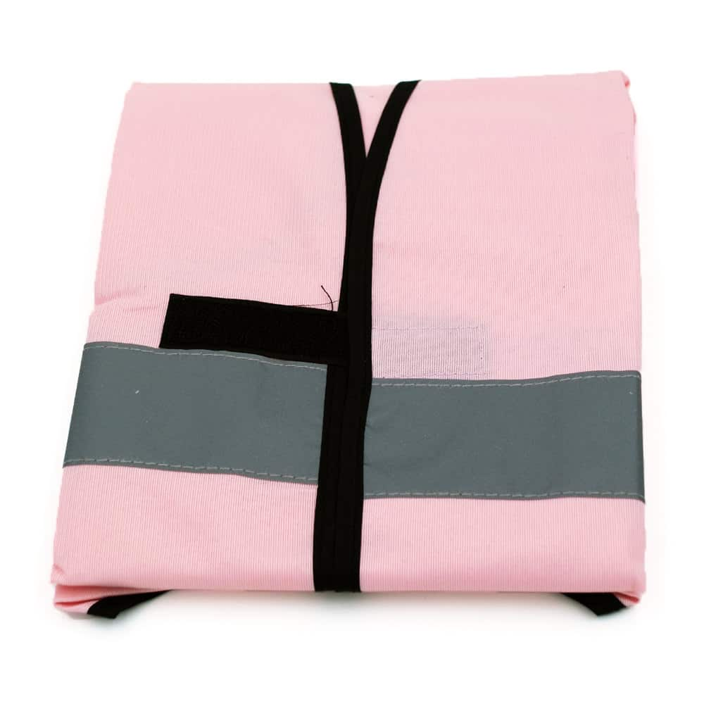 Funktionsweste, Ornderweste rosa-schwarz bedrucken lassen