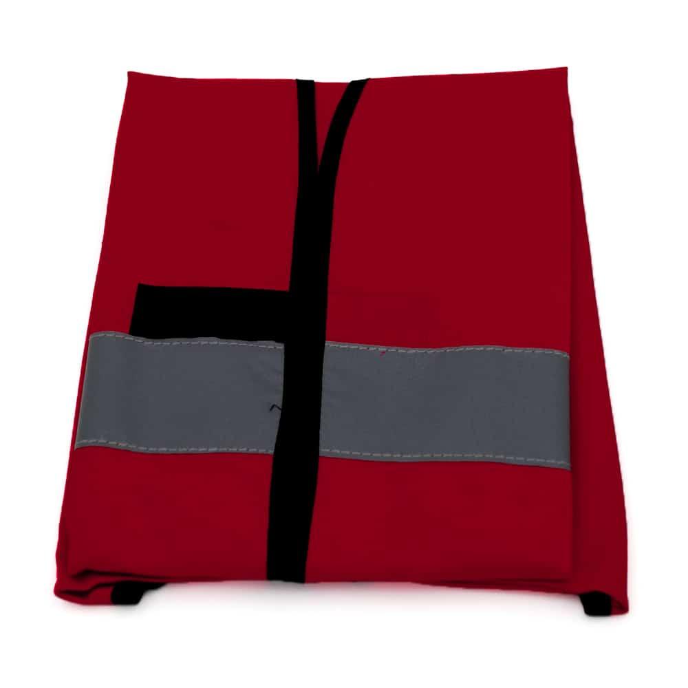 Funktionsweste, Ornderweste rot-schwarz bedrucken lassen