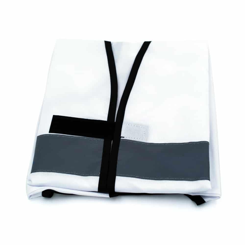 Funktionsweste, Ordnerweste, reflektierend, weiß-schwarz bedrucken lassen