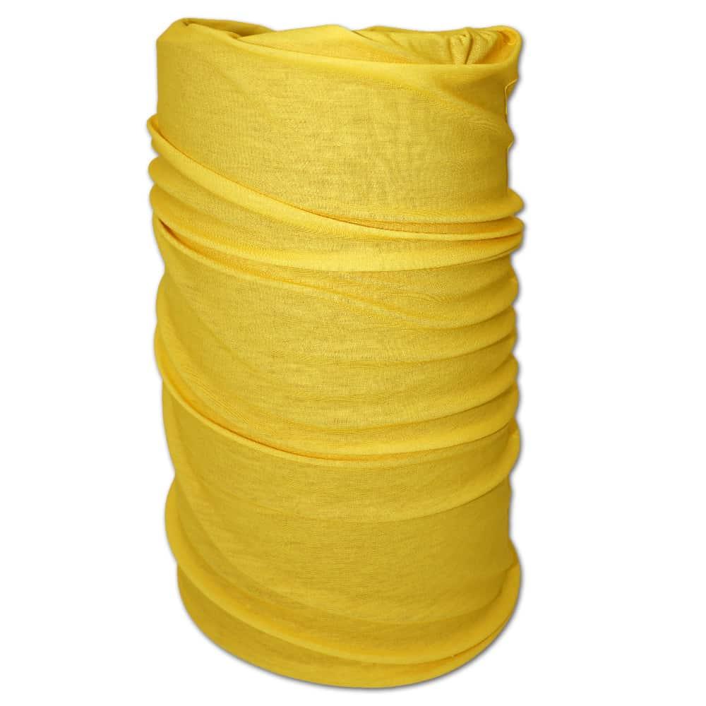 Multifunktionstuch gelb