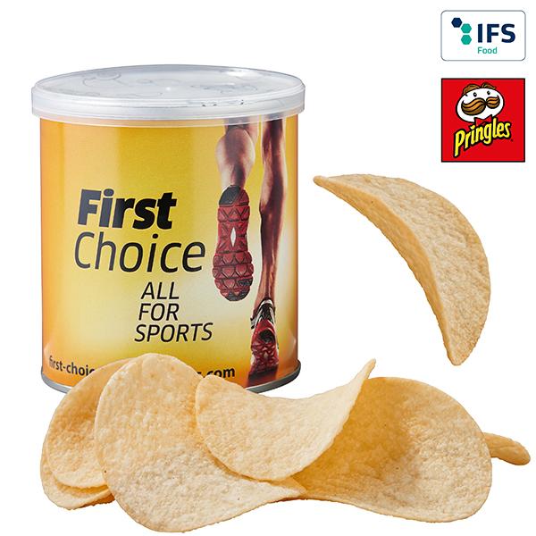 Mini Pringles mit Logo auf der Packung