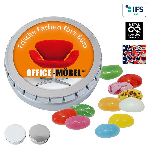 Jelly Beans mit Logo auf der Packung