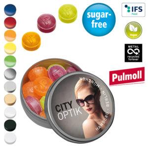 Zuckerfreie Bonbons mit Logo auf der Packung