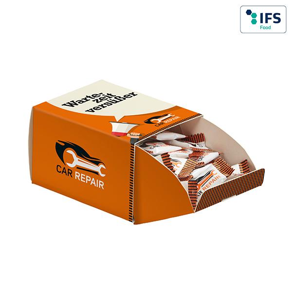 Traubenzuckerspender mit Logo auf der Packung