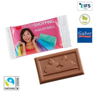 Schokolade mit Logo auf der Packung