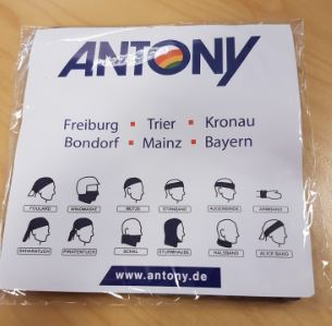 Bandana Verpackung mit bedruckter Einlegerkarte