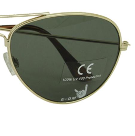 Logodruck auf Brillenglas einer Pilotenbrille - Nonvision