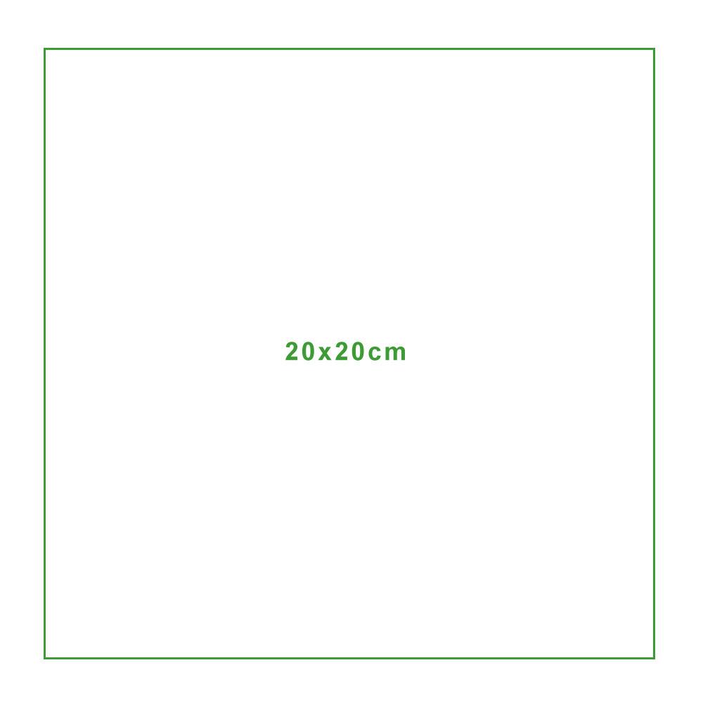 Mikrofasertuch Standardgröße 20x20cm