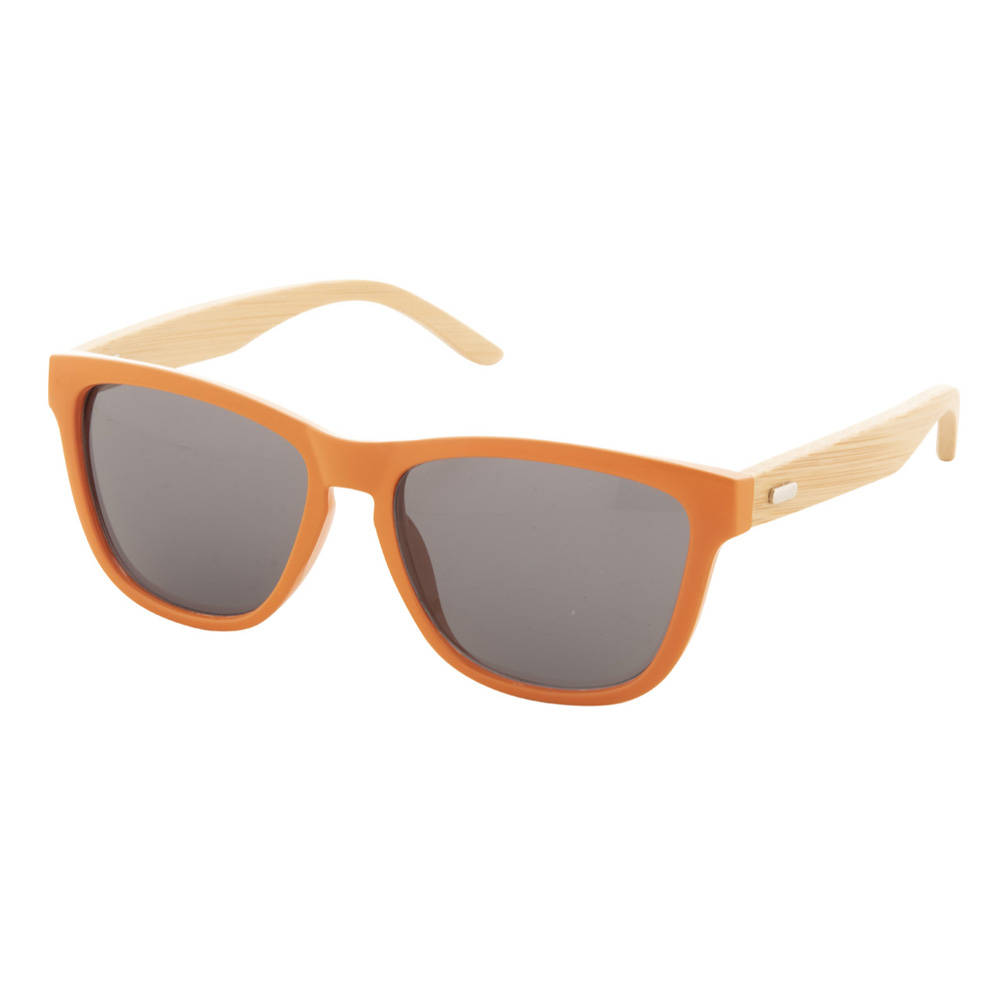 Orangene Bambus-Sonnenbrille - Nonvision