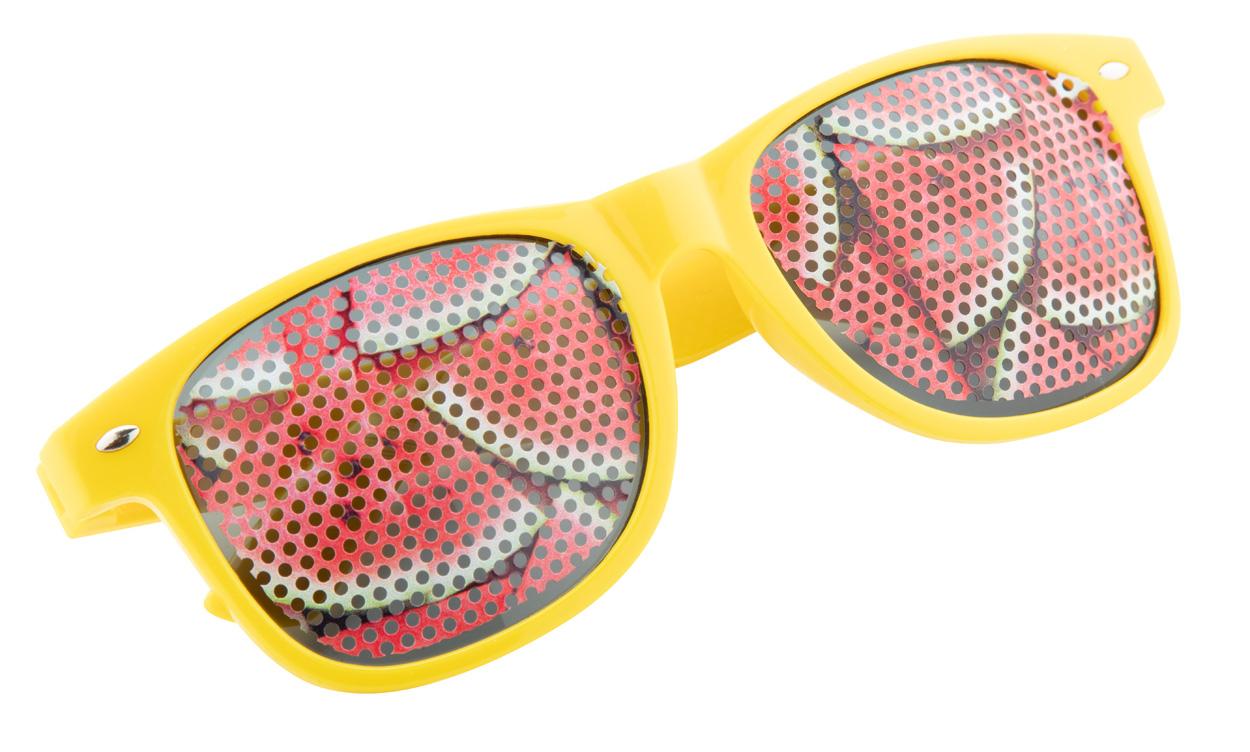 Werbesonnenbrille mit Gläserbedruckung im Lochraster - Nonvision