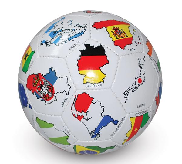 Werbe-Fußball mit Logo