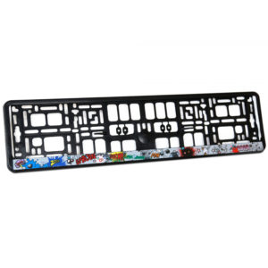 Kennzeichenhalterung mit Digitaldruck