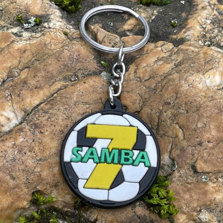 Weichgummi-Abzeichen Samba