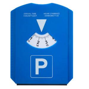 Parkscheibe Kunststoff Frontansicht