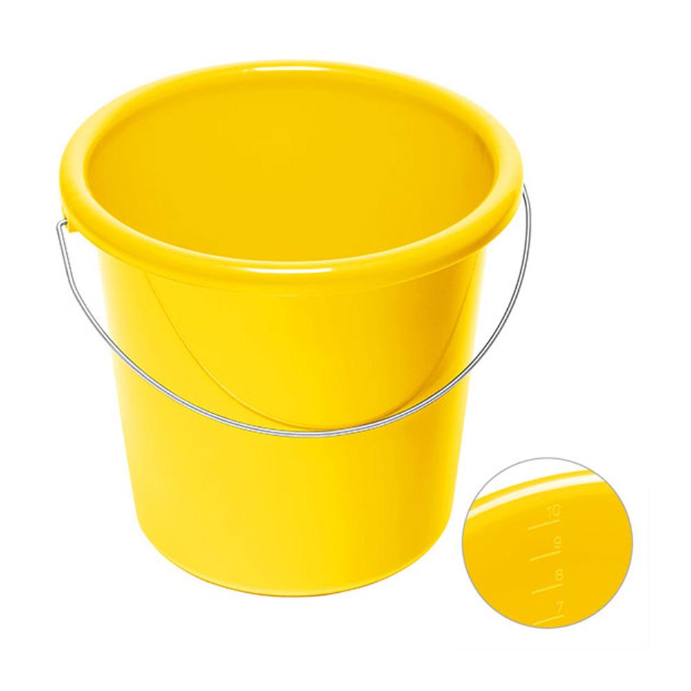 10 Liter Eimer bedrucken gelb