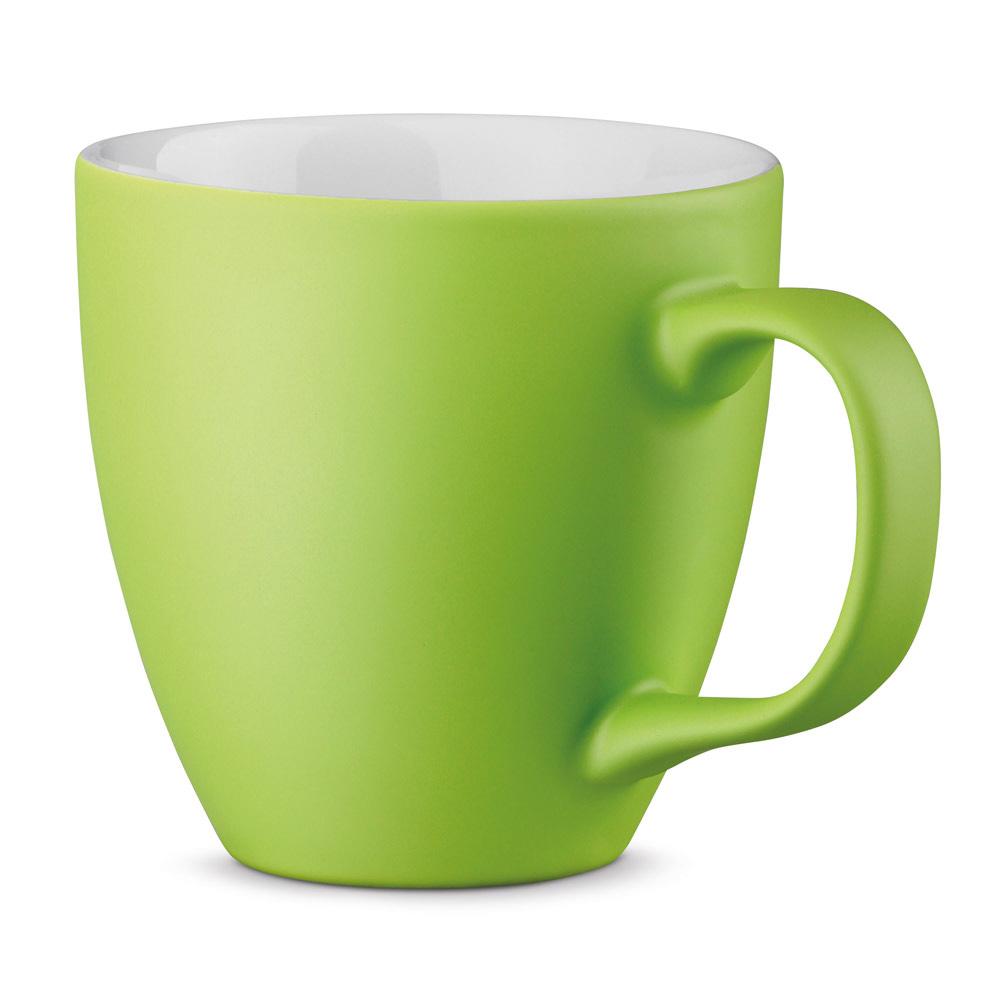 XL Tasse 450ml bedrucken hellgrün matt