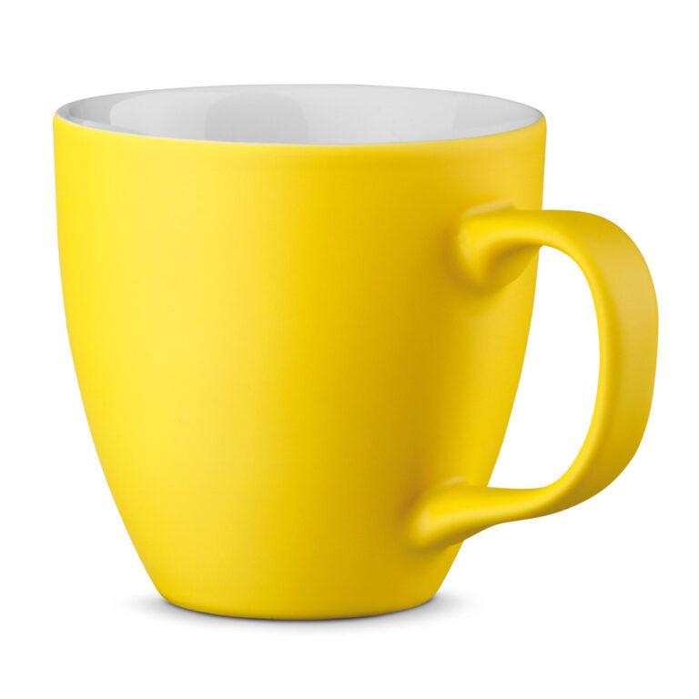 XL Tasse 450ml bedrucken gelb matt